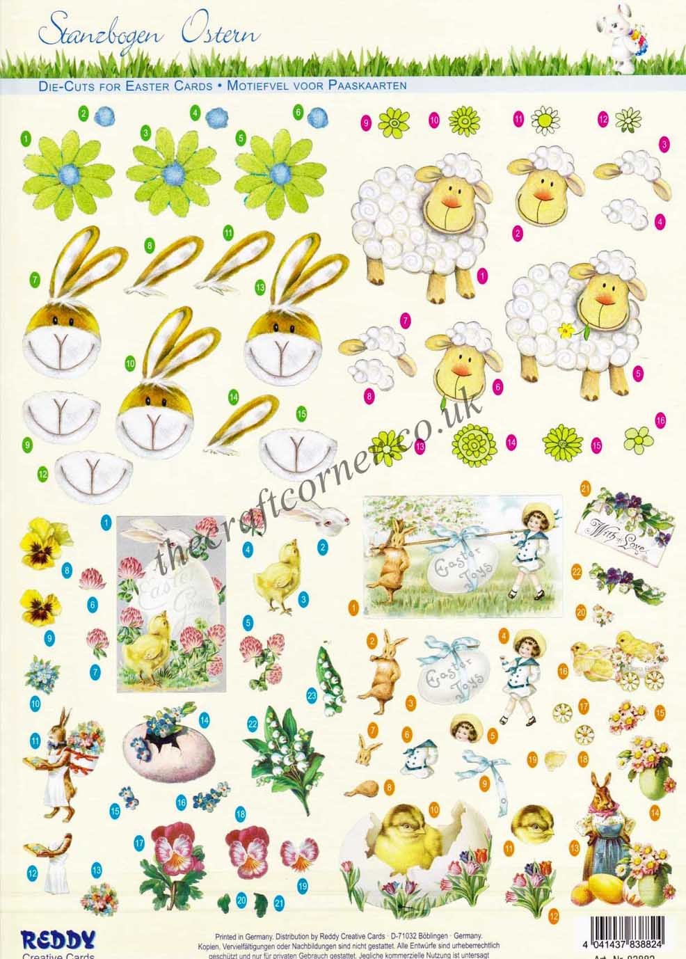 Easter Rabbits Sheep Amp Collage Designs Die Cut 3d